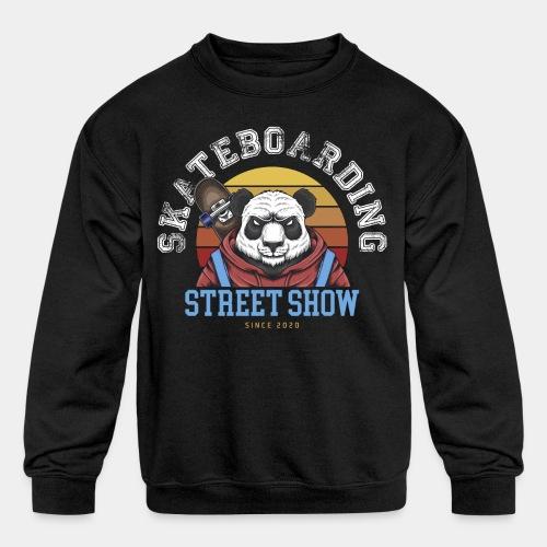 skateboard sk8 - Kids' Crewneck Sweatshirt