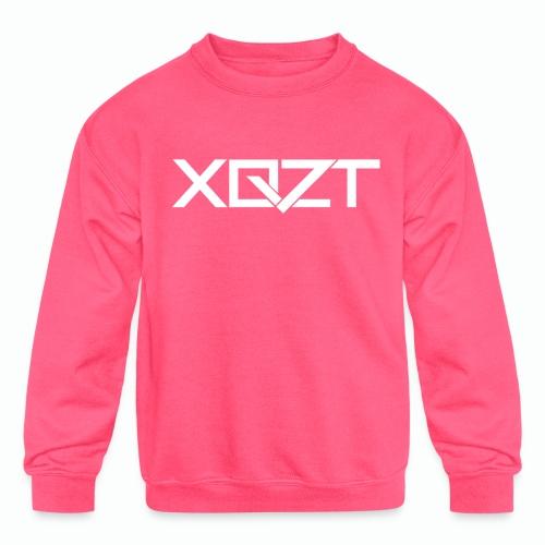 xqzt logotee white png - Kids' Crewneck Sweatshirt