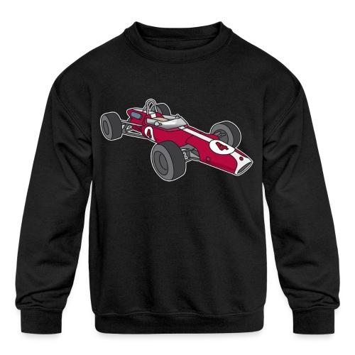 Red racing car, racecar, sportscar - Kids' Crewneck Sweatshirt