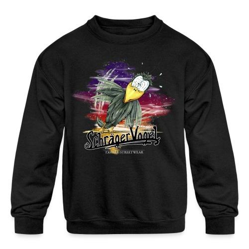 schräger Vogel - Kids' Crewneck Sweatshirt