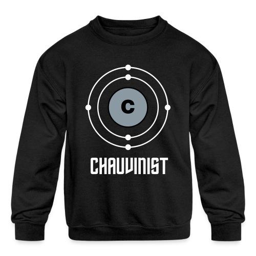 Carbon Chauvinist Electron - Kids' Crewneck Sweatshirt
