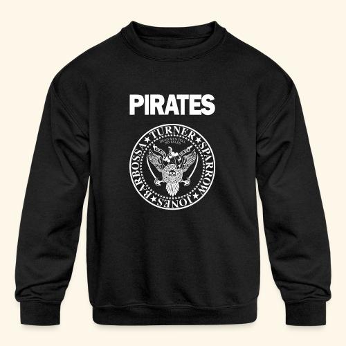 Punk Rock Pirates [heroes] - Kid's Crewneck Sweatshirt