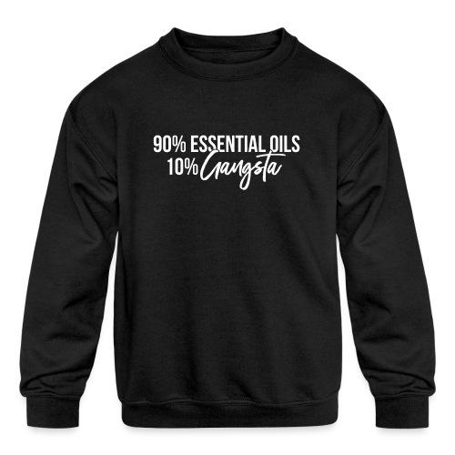 Gangsta (White Font) - Kids' Crewneck Sweatshirt
