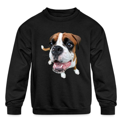 Boxer Rex the dog - Kids' Crewneck Sweatshirt