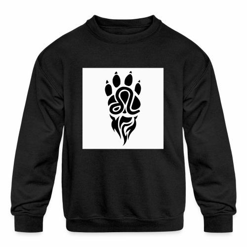 Black Leo Zodiac Sign - Kids' Crewneck Sweatshirt