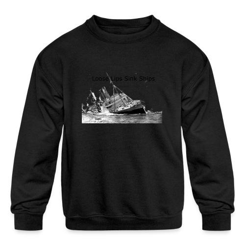 Enron Scandal Joke - Kids' Crewneck Sweatshirt