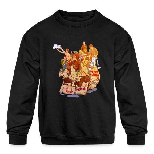 Skull & Refugees - Kids' Crewneck Sweatshirt