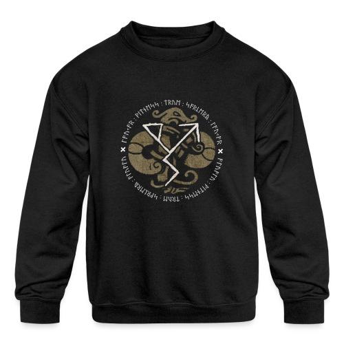 Witness True Sorcery Emblem (Alu, Alu laukaR!) - Kids' Crewneck Sweatshirt