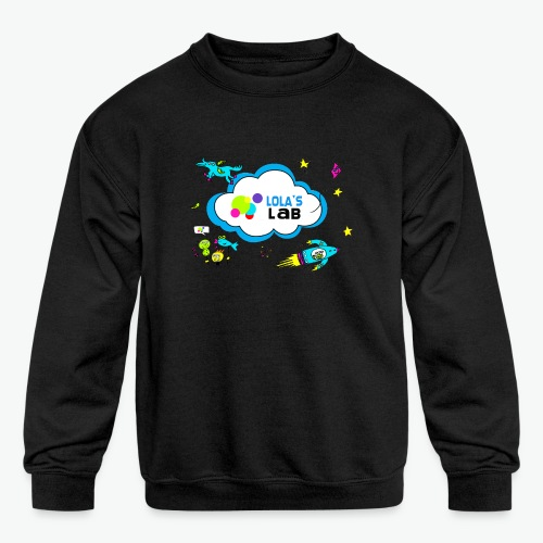 Lola's Lab illustrated logo tee - Kids' Crewneck Sweatshirt