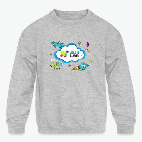 Lola's Lab illustrated logo tee - Kids' Crewneck Sweatshirt