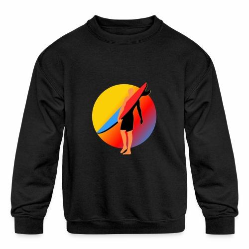 SURFER - Kids' Crewneck Sweatshirt