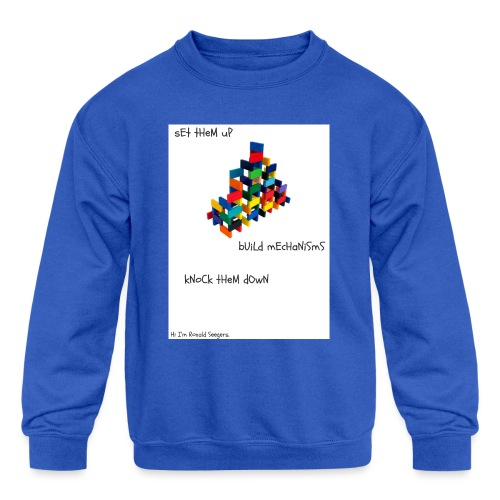 Hi I'm Ronald Seegers Collection-dominoes - Kids' Crewneck Sweatshirt