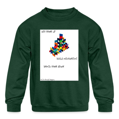 Hi I'm Ronald Seegers Collection-dominoes - Kids' Crewneck Sweatshirt