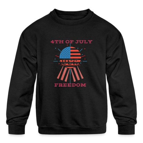 4th of July Freedom - Kids' Crewneck Sweatshirt