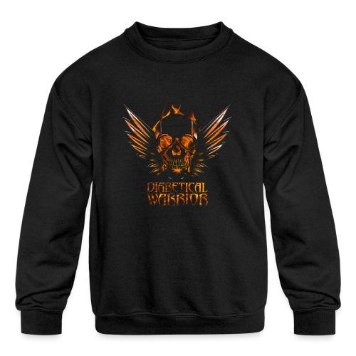 Diabetical Warrior - Kids' Crewneck Sweatshirt