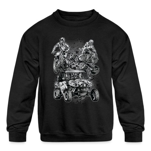 Extreme Motorsports - Kids' Crewneck Sweatshirt