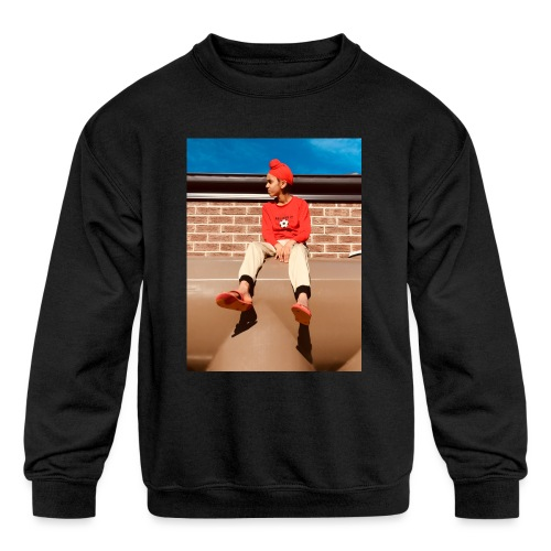 Flamin_Danger - Kids' Crewneck Sweatshirt