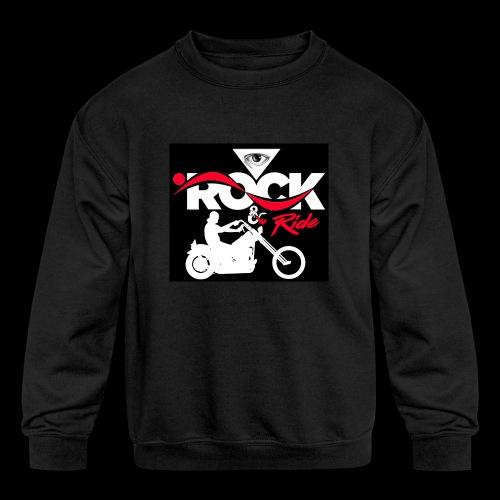 Eye Rock and Ride design black & Red - Kids' Crewneck Sweatshirt