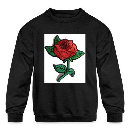 t-shirt roses clothing🌷 - Kids' Crewneck Sweatshirt