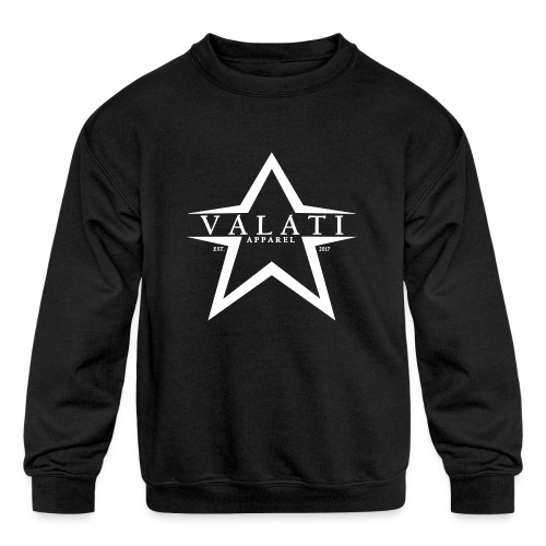 V-Star White - Kids' Crewneck Sweatshirt
