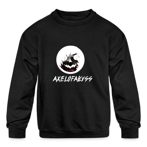 Axelofabyss Red with Nature - Kids' Crewneck Sweatshirt