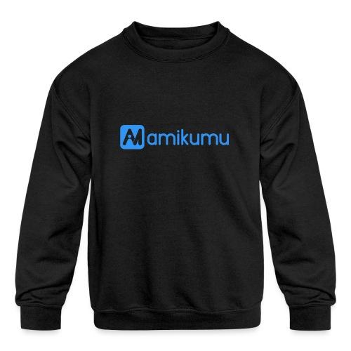 Amikumu Logo Blue - Kids' Crewneck Sweatshirt