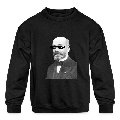 Zamenhof Shades (BW) - Kids' Crewneck Sweatshirt