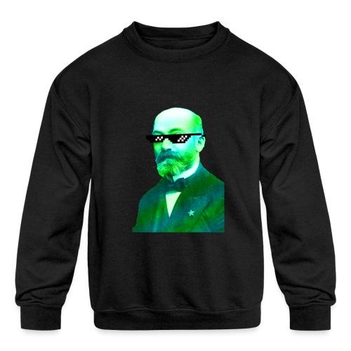 Green and Blue Zamenhof - Kids' Crewneck Sweatshirt