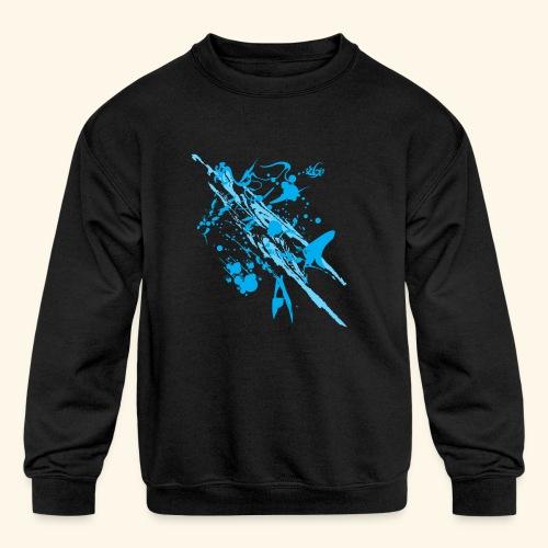 Blue Splash - Kids' Crewneck Sweatshirt