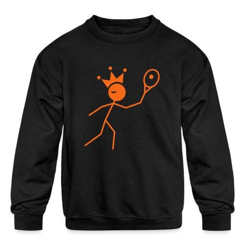 Winky Tennis King - Kids' Crewneck Sweatshirt