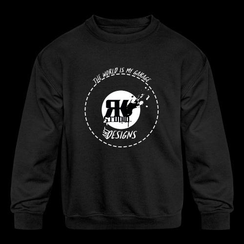 The World is My Garage - Kids' Crewneck Sweatshirt