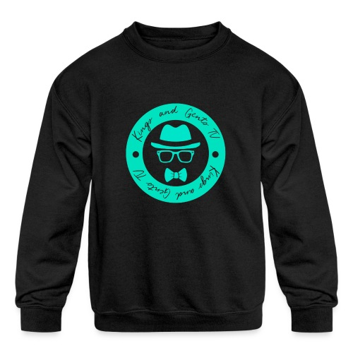 Kings and Gents TV Logo - Kids' Crewneck Sweatshirt