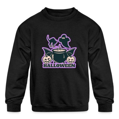 Happy Halloween - Kids' Crewneck Sweatshirt