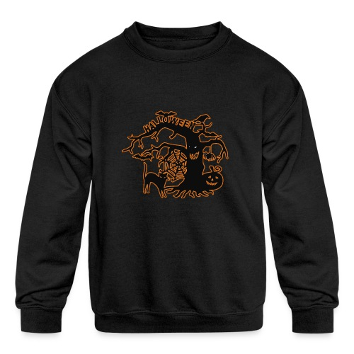 Halloween tree - Kids' Crewneck Sweatshirt