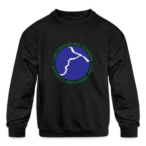 LDO WHITE LOGO - Kids' Crewneck Sweatshirt