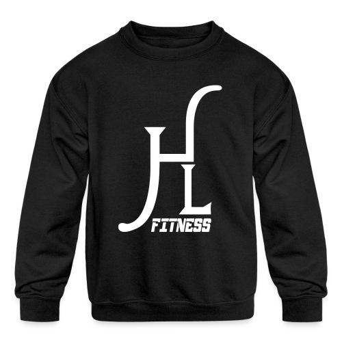 HLF Vector WHT - Kids' Crewneck Sweatshirt