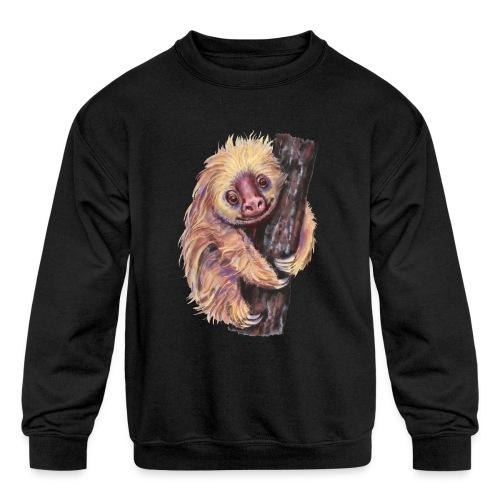 Sloth - Kids' Crewneck Sweatshirt