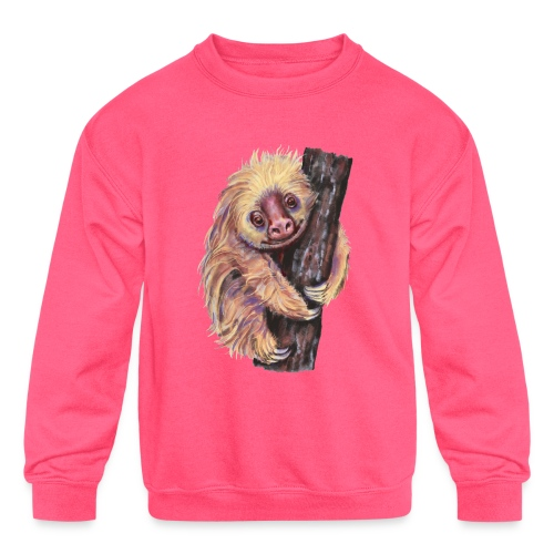 Sloth - Kids' Crewneck Sweatshirt