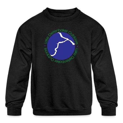 LAKE DIEFENBAKER OUTDOORS - Kids' Crewneck Sweatshirt