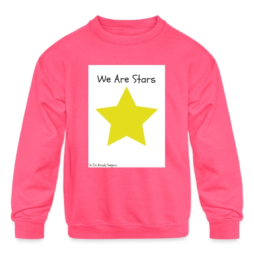 Hi I'm Ronald Seegers Collection-We Are Stars - Kids' Crewneck Sweatshirt