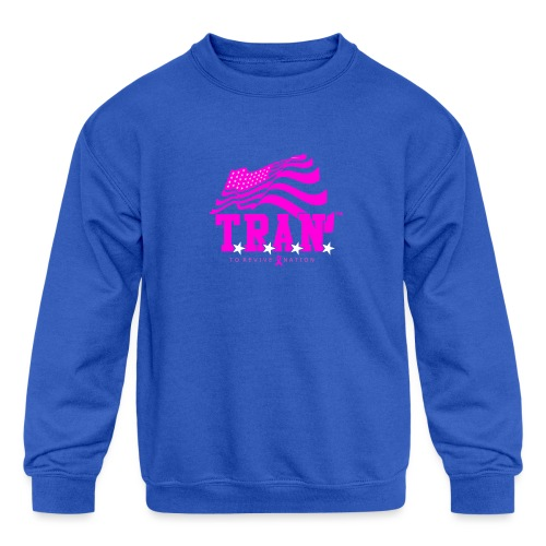 TRAN Ribbon Logo 4 - Kids' Crewneck Sweatshirt