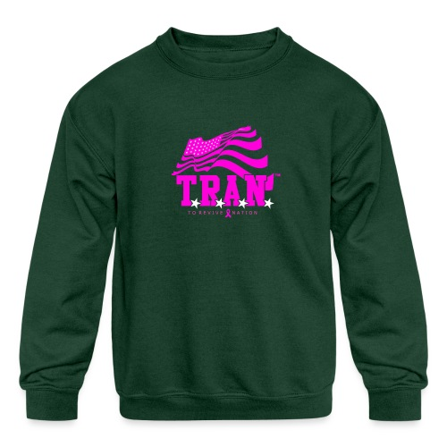 TRAN Ribbon Logo 4 - Kids' Crewneck Sweatshirt