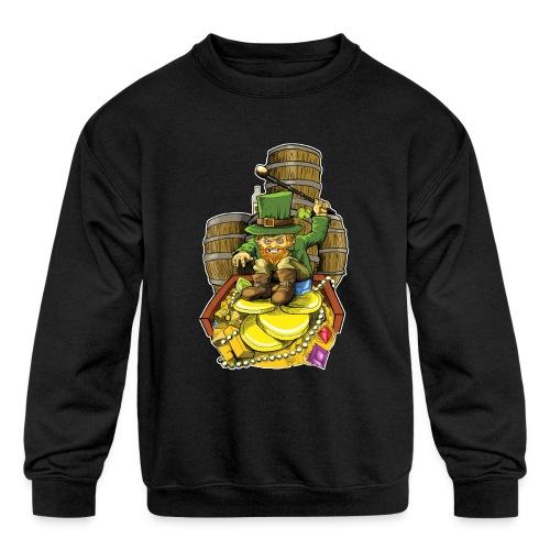 Angry Irish Leprechaun - Kids' Crewneck Sweatshirt