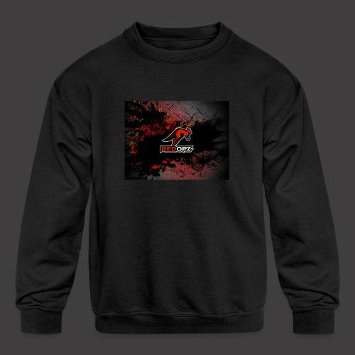 RedOpz Splatter - Kids' Crewneck Sweatshirt