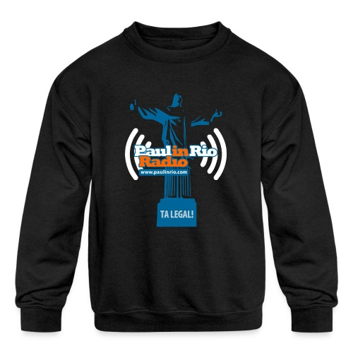 Paul in Rio Radio - The Thumbs up Corcovado #2 - Kid's Crewneck Sweatshirt