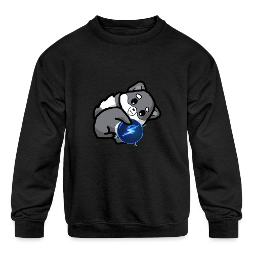 Eluketric's Zapp - Kids' Crewneck Sweatshirt