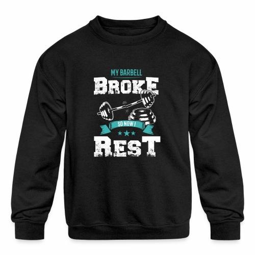 Workout Resting Time - Kids' Crewneck Sweatshirt