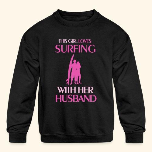 Surf Shirts Womens for Men, Women, Kids, Babies - Kids' Crewneck Sweatshirt