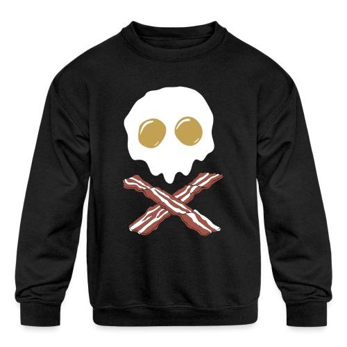 Breakfast Skull - Kids' Crewneck Sweatshirt