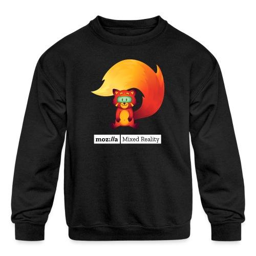 Foxr Sitting (white MR logo) - Kids' Crewneck Sweatshirt